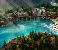 First Glimpse of Disneyland's New Rivers of America