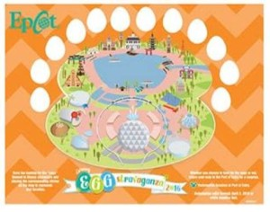 The Egg-Stravaganza Map for Epcot