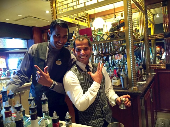 Emerald Princess Wheelhouse Bartenders
