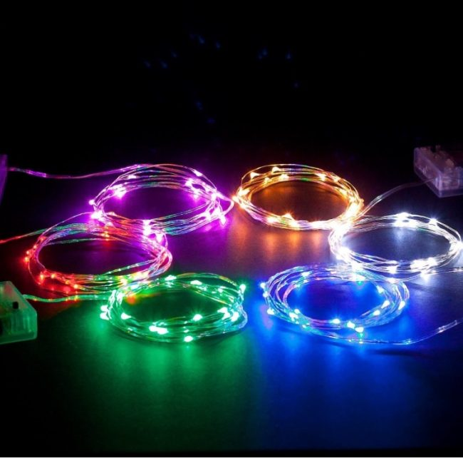 Battery powered rope lights