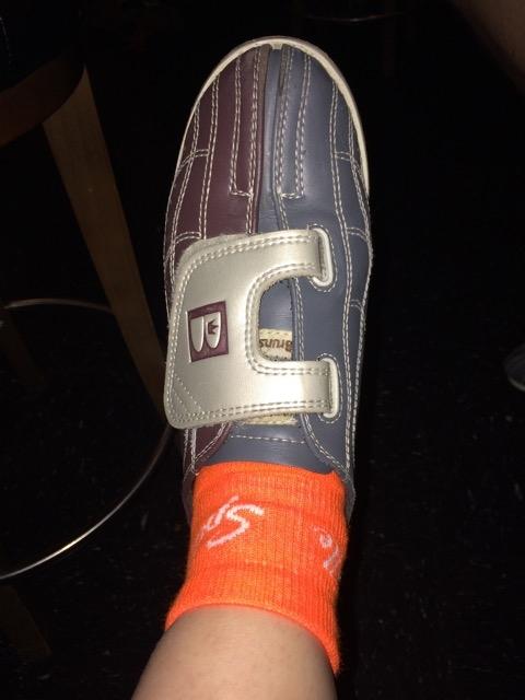 Bright orange socks for the win!