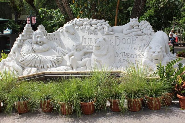 The Jungle Book Sand Sculpture Courtesy of Disney