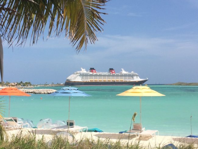 The Disney Dream in Castaway Cay (photo by Karen Shelton)
