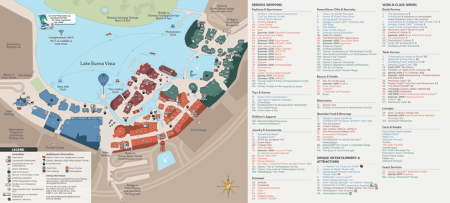 Disney Springs Map 2