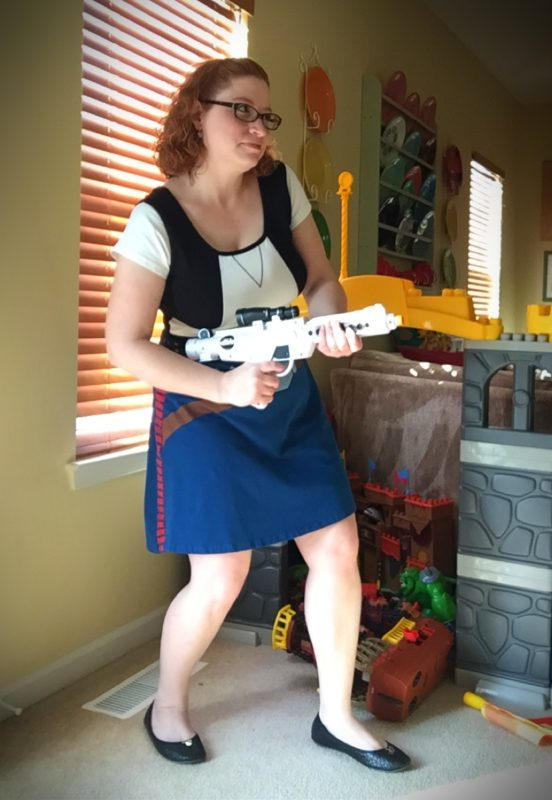 Dressing up as Han Solo (Yes, I know that's the wrong blaster)