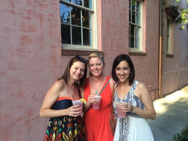 Pink Lady drinks from The Olde Pink House