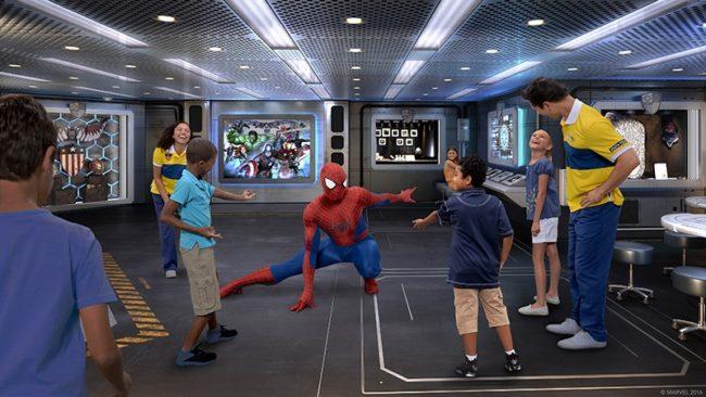 The Marvel Super Hero Academy is coming to the Disney Wonder's Oceaneer Club (Photo illustration, Disney)