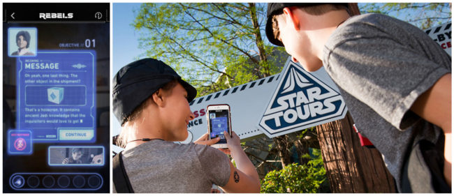 Star Wars Rebels Interactive Adventure (photo courtesy of Disney)