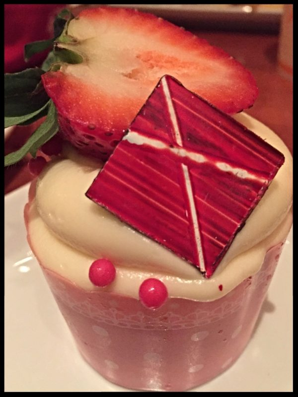 Strawberry Cream Cheese Cupcake Be Our Guest Restaurant-Photo Credit Lisa McBride