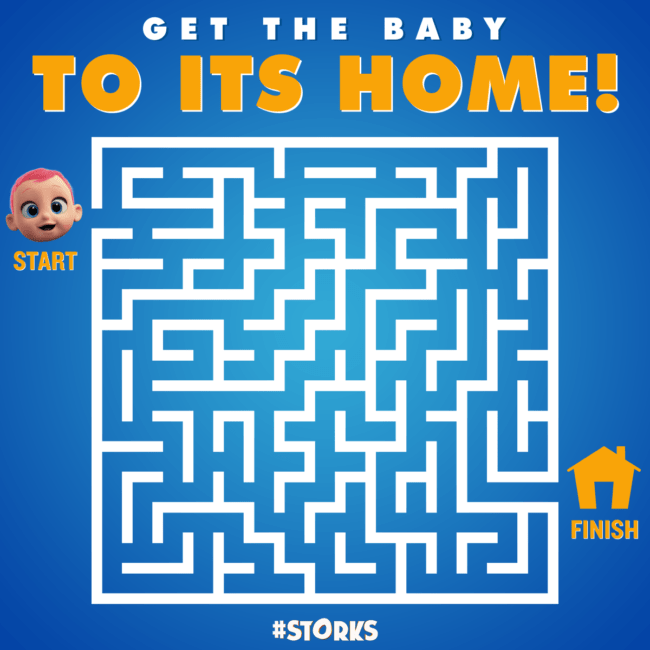 Help Get the Baby Home Maze
