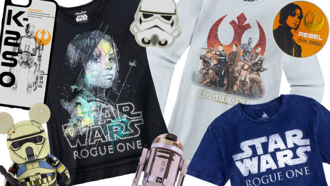 "Sampling of New ""Rogue One: A Star Wars Story"" Merchandise. Photo by Disney Parks Blog"