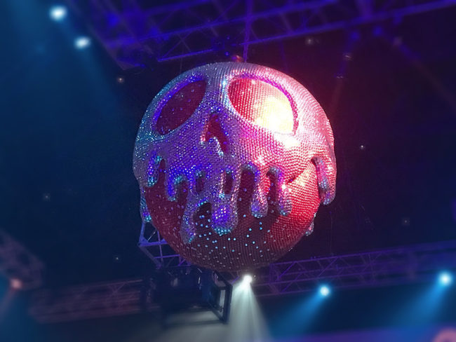 Club Villain: Poison Apple Disco Ball (photo by Rachel Horsley)