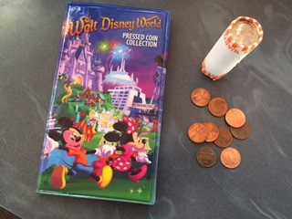 walt disney world pressed penny wallet