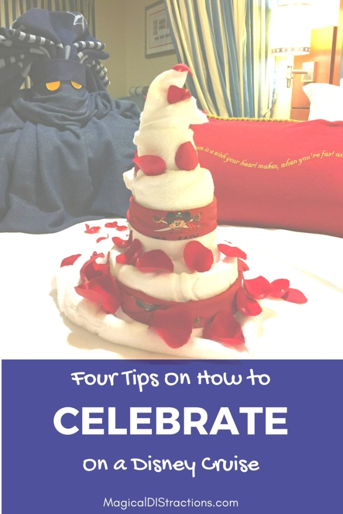 Celebrate on a Disney Cruise: Disney Cruise Towel Cake and Rose Petals