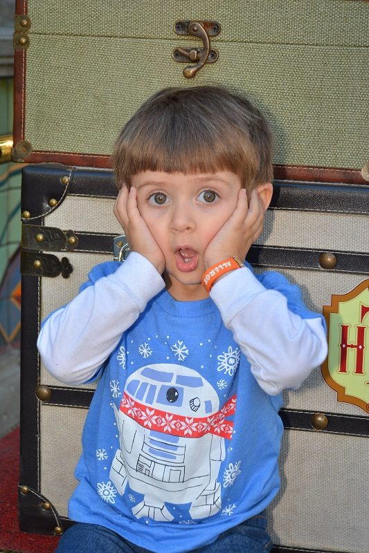 Shocked face - Disneyland attractions for toddlers