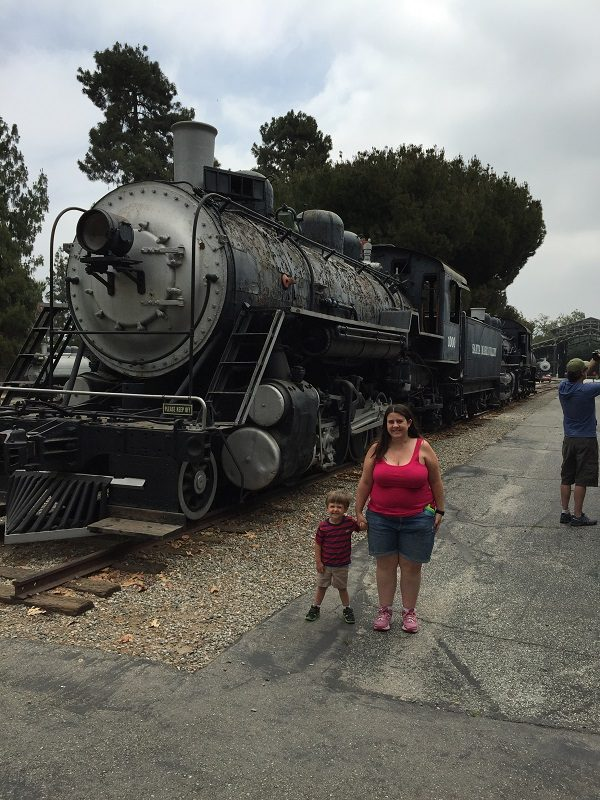 Fun with the train at Travel Town