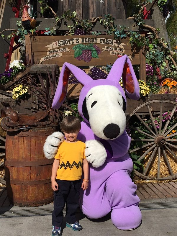 Hanging with Easter Snoopy during the Boysenberry Festival - Photo Credit - Kelly Short