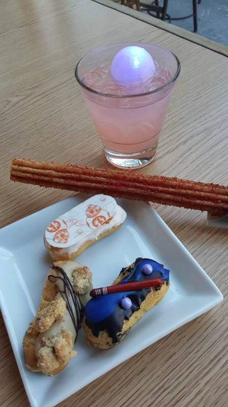 Try the limited edition Star Wars mini eclairs at Galactic Nights.