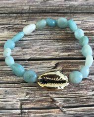 bracelet-pierre-naturelle-amazonite-grain-de-riz-cauri-dore-2