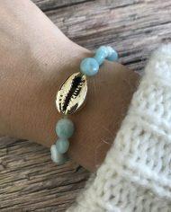 bracelet-pierre-naturelle-amazonite-grain-de-riz-cauri-dore-3