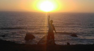 David in the Magic Sunset