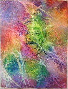 Mark Twain Portrait in Color
