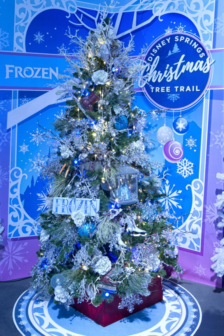 Photo of Frozen Tree at Disney Springs Christmas Tree Trail