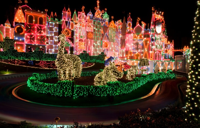 Photo of it's a small world Holiday Lighting
