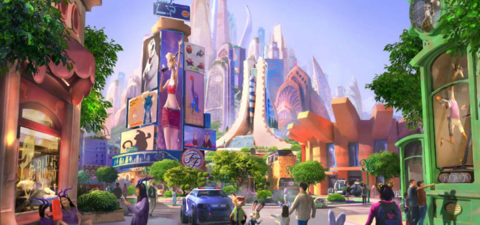 Photo of Zootopia-themed land at Shanghai Disneyland