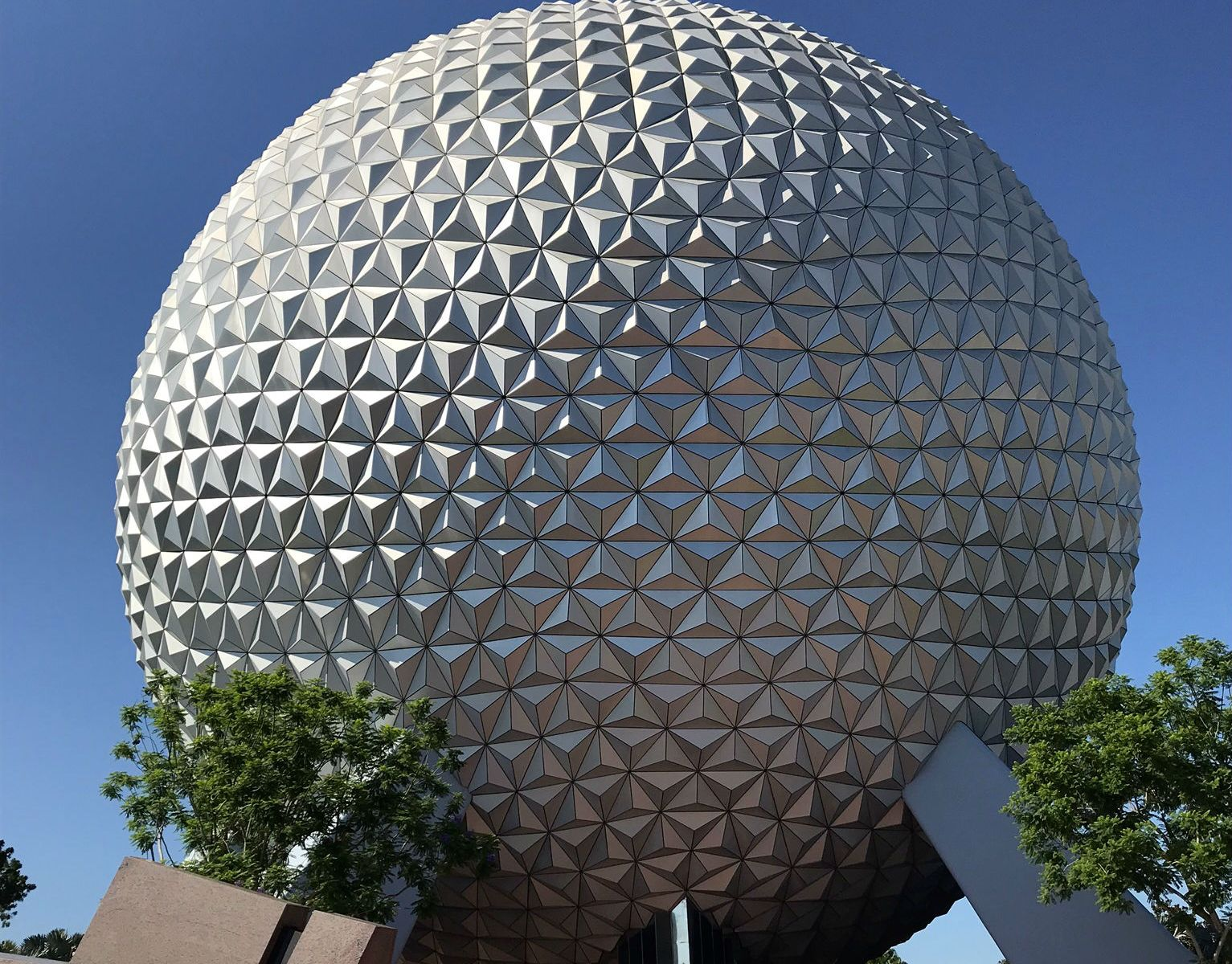 Photo of Spaceship Earth at Epcot's park entrance