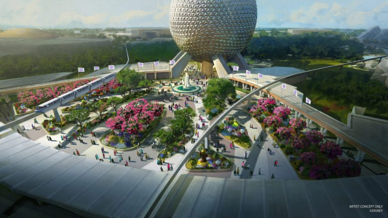 Photo of concept art for Epcot's new main entrance