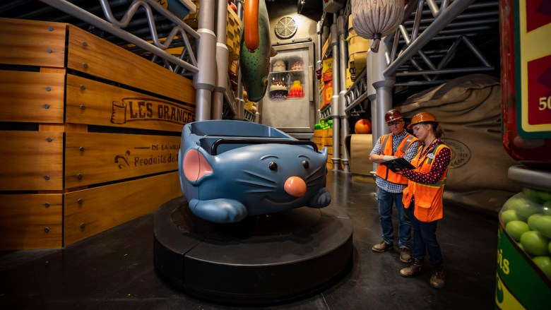 Remy's Ratatouille Adventure ride vehicle