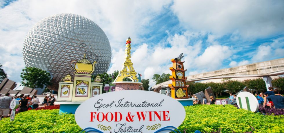 Photo of Epcot International Food and Wine sign at Epcot's entrance