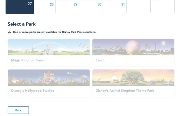 Photo of Disney Park Pass system