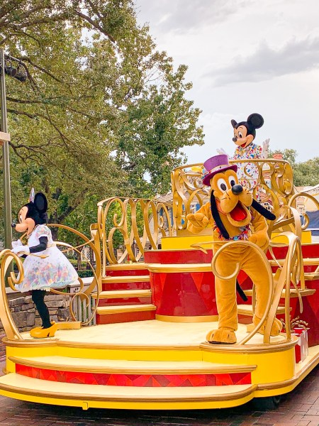 Pluto, Mickey, and Minnie at Magic Kingdom