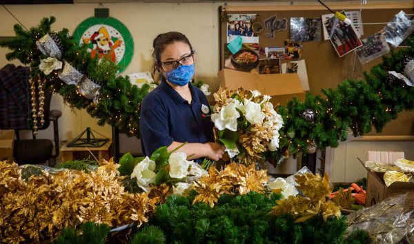 Holiday decorations being prepped at Walt Disney World