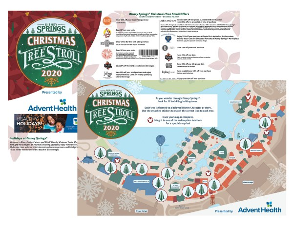 Christmas Tree Stroll scavenger hunt at Disney Springs