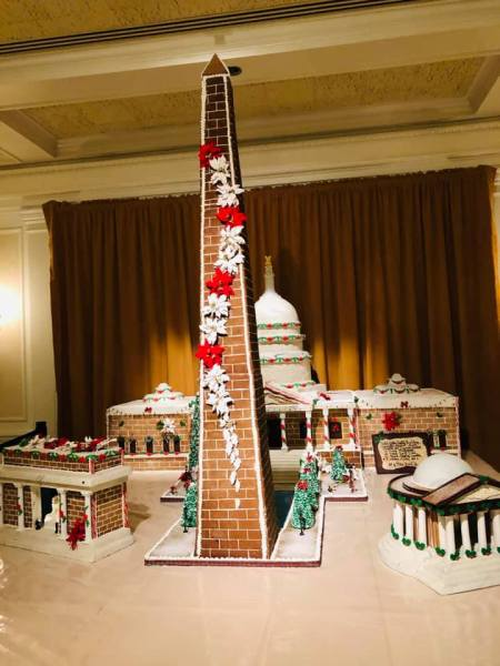 American Adventure gingerbread display at Epcot's Festival of the Holidays