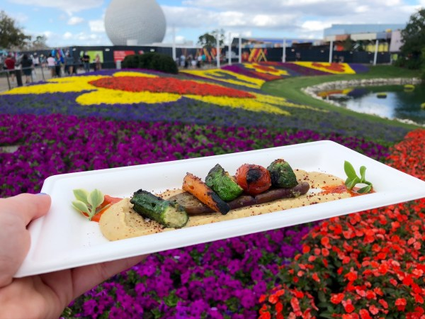 garden vegetables and hummus at 2021 epcot flower and garden festival