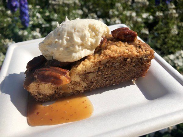 pecan cake at epcot flower and garden festival