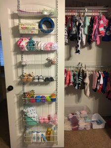 Baby closet organize hang clothes