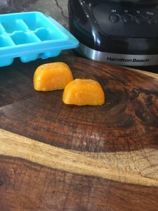 magical mama blog butternut squash ice cubes stage 1 stage 2 ice cube tray food processor