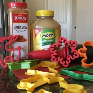 magical mama blog cinnamon applesauce ornaments ingredients cookie cutters rolling pin