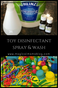magical mama blog toy disinfectant spray wash clean toys how to toy spray wash