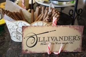 magical mama blog harry potter first birthday party ollivander's wands