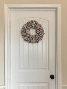 magical mama blog christmas decor decorations baby proof toddler safe door wreath