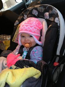magical mama blog how to keep your baby healthy in winter sickness illness flu cold season christmas new year hat jacket cloves blanket car seat medication