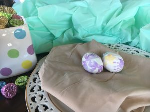 Magical Mama Blog 7 Ways to Decorate Easter Eggs Paper Covered, Yarn, Feather, Fabric