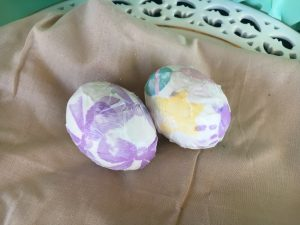 Magical Mama Blog 7 Ways to Decorate Easter Eggs Paper Covered, Yarn, Feathers, Fabric