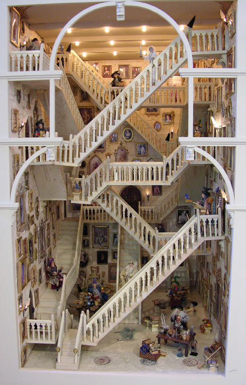 The Hogwarts Stairs in miniature